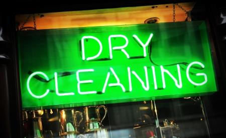 cleaners: Chemisch reinigen Stockfoto