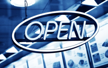 Open sign  Stock Photo - 10629527