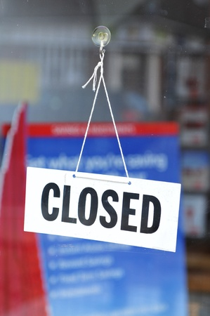 fermer la porte: Closed sign