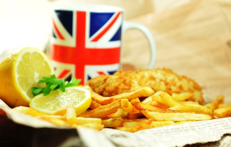 british foods: Fish and chips