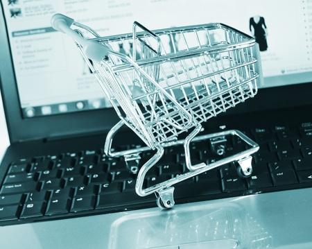 shopping baskets: Shopping online
