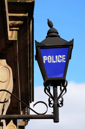 constabulary: Vintage police sign  Stock Photo
