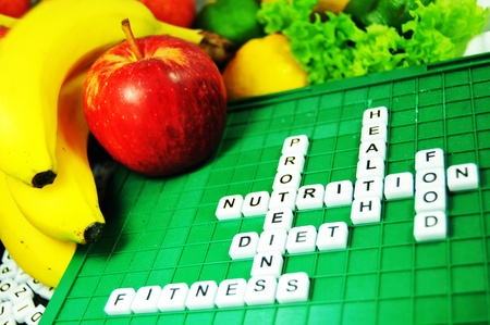 word game: Nutrition Stock Photo