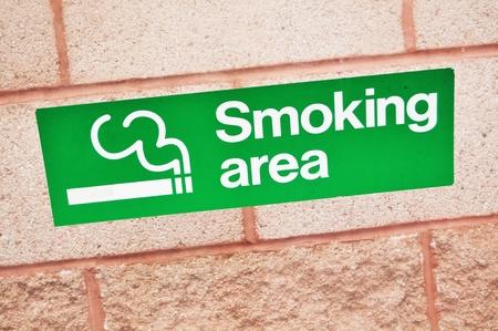 Smoking area sign  photo