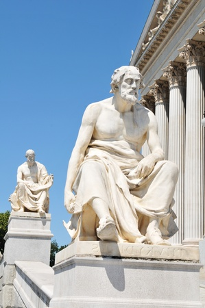 thinkers: Greek philosophers  Stock Photo