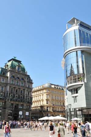 Vienna, Austria - July 10, 2011: Modern and traditional architecture in the centre of Vienna, Austria