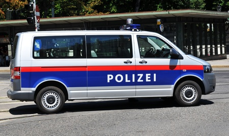 patrolling: Vienna, Austria - July 10, 2011: Local police car patrolling the streets of Vienna