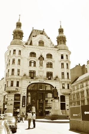 Vienna, Austria - July 10, 2011: Tourists visiting landmarks in the historical centre of Vienna, Austria.  Stock Photo - 10738395
