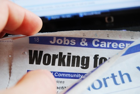 Vacancies: Looking for a job Stock Photo