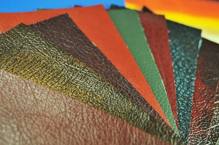 Leather samples Stock Photo - 10864449