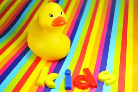 rubber  duck: Fondo de niños