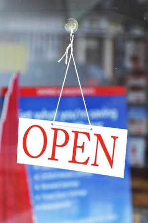 Open teken