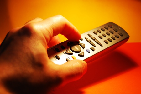 telly: Remote control Stock Photo