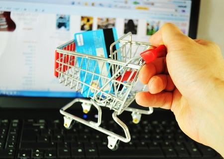 Achat sur Internet Banque d'images