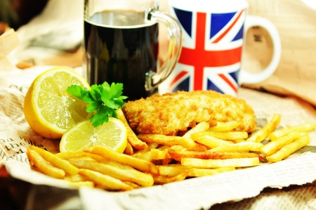 british food: Fish and chips