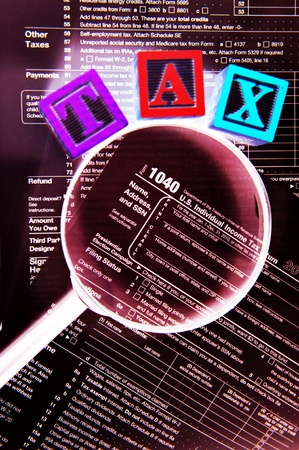Abstract tax concept Stock Photo - 11280205