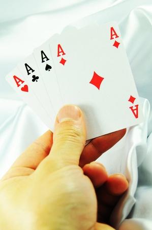 Four aces  Stock Photo - 11267924