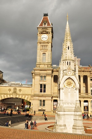 Birmingham, UK - 20 Sept, 2011: Museum and Art Gallery, Council House Clock Tower in Chamberlain Square, Birmingham - UK