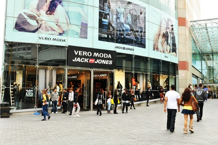 retail place: Birmingham, UK - 20 Sept, 2011: People shopping in central Birmingham  Editorial