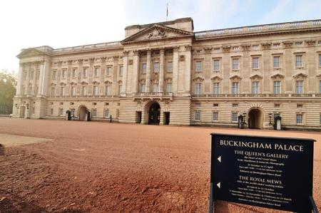 buckingham palace: London, UK - 18 Nov, 2011: Tourists visiting Buckingham Palace in London