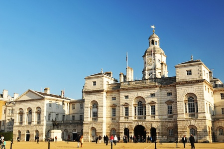 London, UK - 18 Nov, 2011: Tourists visiting the Royal Horse Guards in London