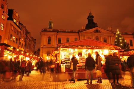 shopping scenes: Christmas market in Scandinavia