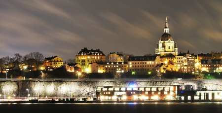 Stockholm by night  photo