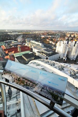 ericsson: Stockholm, Sweden - 15 Dec, 2011: Aerial view of Stockholm captured from Ericsson Globe, the national indoor arena of Sweden Editorial