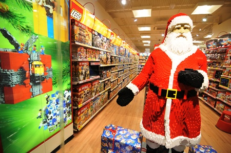 Copenhagen, Denmark - 18 Dec, 2011: Lego toy store in Copenhagen at Christmas Stock Photo - 12255646