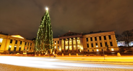 Oslo, Norway - 16 Dec, 2011: Medieval market in the Norwegian capital city at Christmas