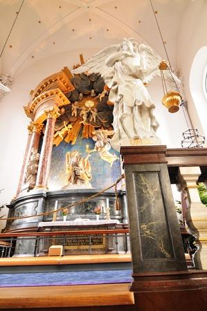 Copenhagen, Denmark - 18 Dec, 2011: Detail of altar in  the Church of Our Saviour (Vor Frelsers Kirke) in Copenhagen, Denmark