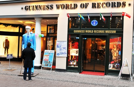 michael: Copenhagen, Denmark - 19 Dec, 2011: Tourists visiting the Guinness World of Records Museum in the Danish capital city Editorial