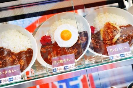 Tokyo, Japan - 28 Dec, 2011: Plastic food on display in restaurant Stock Photo - 12445217