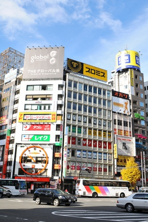 Tokyo, Japan - 28 Dec, 2011: Colorful billboards in Shinjuku, one of the major districts of Tokyo Stock Photo - 12386345