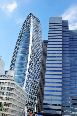 administrative buildings: Tokyo, Japan - 28 Dec, 2011: Modern architecture in Shinjuku, major commercial and administrative center of Tokyo