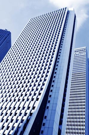 corporate buildings: Tokyo, Japan - 28 Dec, 2011: Architectural panorama of skyscraper in Tokyo, Japan  Editorial