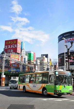 sony: Tokyo, Japan - 28 Dec, 2011: Generic view of modern architecture and traffic in Shinjuku, one of the major districts of Tokyo Editorial