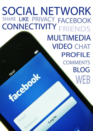 London, UK - 27 Feb, 2012: Social network concept with iPod and dedicated Facebook application Stock Photo - 12513293
