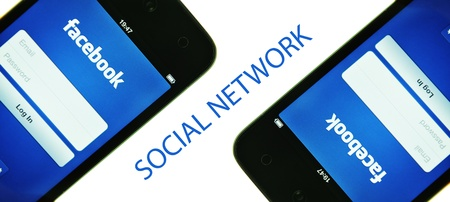 London, UK - 27 Feb, 2012: Social network concept with iPods and dedicated Facebook application Stock Photo - 12468877