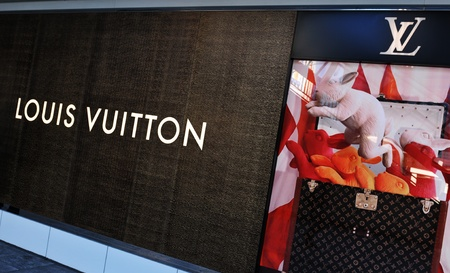 Tokyo, Japan - 28 Dec, 2011: Louis Vuitton store in Shinjuku, major commercial and administrative district of Tokyo