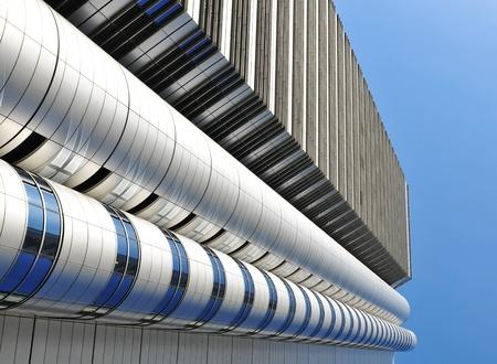 Tokyo, Japan - 28 December, 2011: Architectural detail of corporate building in Shinjuku, Tokyo  Stock Photo - 12571175