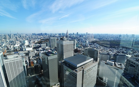 Tokyo, Japan - 28 December, 2011: Skyscrapers in Shinjuku, major commercial and administrative centre in Tokyo