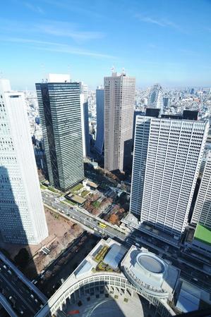 administrative buildings: Tokyo, Japan - 28 December, 2011: Skyscrapers in Shinjuku, major commercial and administrative centre in Tokyo