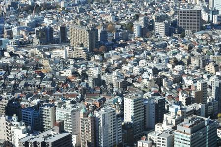 Tokyo, Japan - 28 December, 2011: Aerial view of Tokyo suburbs Stock Photo - 12571264