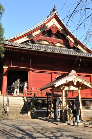 Tokyo, Japan - 28 December, 2011: Traditional architecture of Japanese Shinto shrine in Ueno, home to some of Tokyo Stock Photo - 13182906