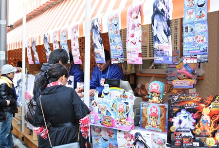 Toyko, Japan - 28 December, 2011: Anime (manga) vendors in Akibahara district, Tokyo Stock Photo - 13154407