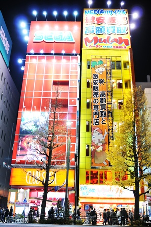 Tokyo, Japan - 28 December, 2011: Night view of Akihabara - electric town, major commercial district of Tokyo Stock Photo - 13118682