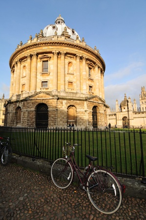 Oxford, UK - November 12, 2011: The Radcliffe Camera is a famous building in Oxford, designed in the English Palladian style housing the Radcliffe Science Library.