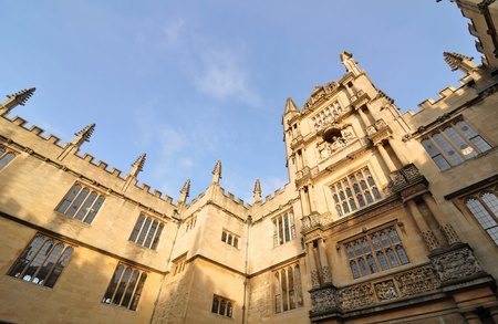 Oxford, England - November 12, 2011:Architectural detail of university in Oxford, England