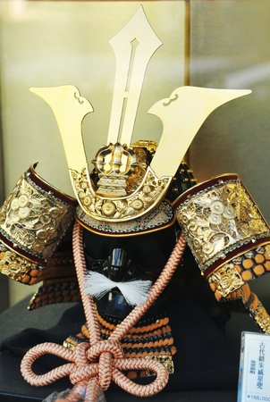 Tokyo, Japan - 29 December, 2011: Ancient Samurai outfit on display at auction house in Chiyoda, Tokyo Stock Photo - 13118852